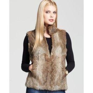 MICHAEL KORS  Rabbit fur vest Small NWOT